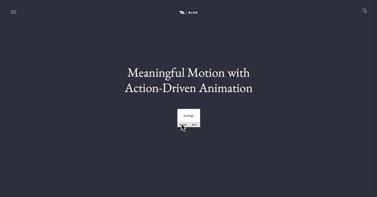 Meaningful Motion With Action Driven Animation Tobias Ahlin
